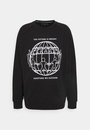 PLANET CREWNECK UNISEX - Sweatshirt - black