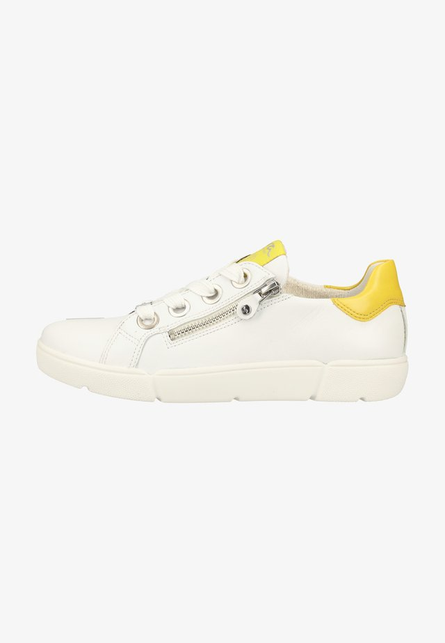 Sneakers basse - white/yellow