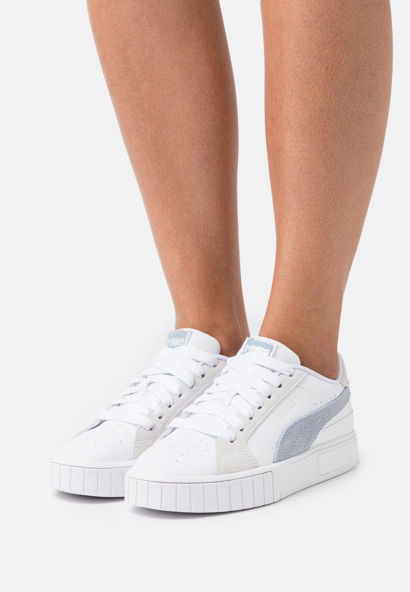 Puma - CALI STAR MIX  - Baskets basses - white/forever blue