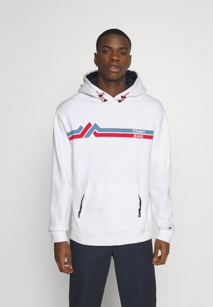 STRIPE MOUNTAIN - Sweat à capuche - white