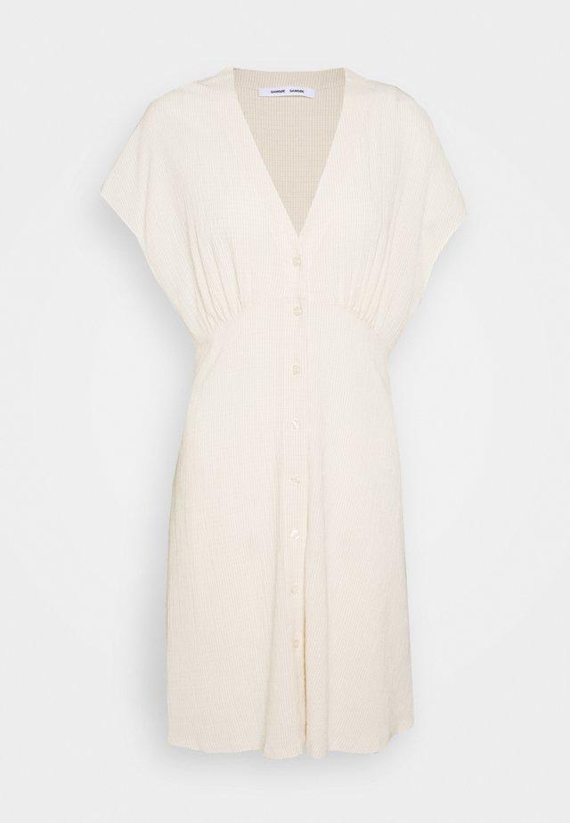 VALERIE SHORT DRESS - Vestido camisero - warm white
