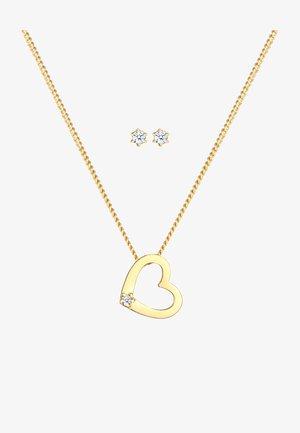 JEWELRY SET HEART - Boucles d'oreilles - gold