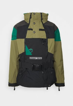 STEEP TECH APOGEE JACKET - Windbreaker - burnt olive green/evergreen/black