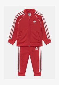 adidas Originals - SLICE TREFOIL CREW ADICOLOR ORIGINALS PULLOVER - Training jacket - scarlet/white - 0