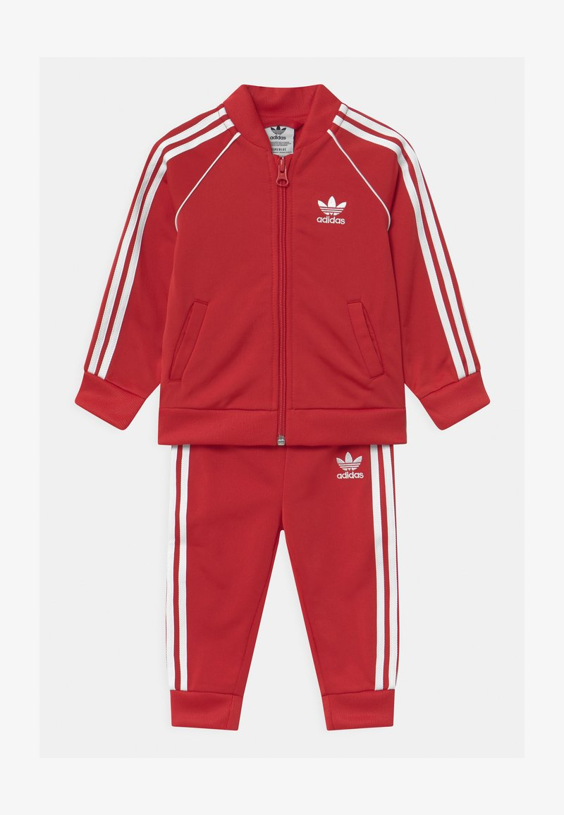 adidas Originals - SLICE TREFOIL CREW ADICOLOR ORIGINALS PULLOVER - Training jacket - scarlet/white