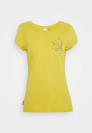 Print T-shirt - honey