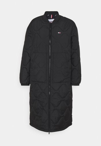 QUILTED COAT - Abrigo de invierno - black