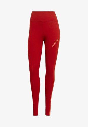 HW TIGHTS - Leggings - Trousers - scarlet/semi solar red