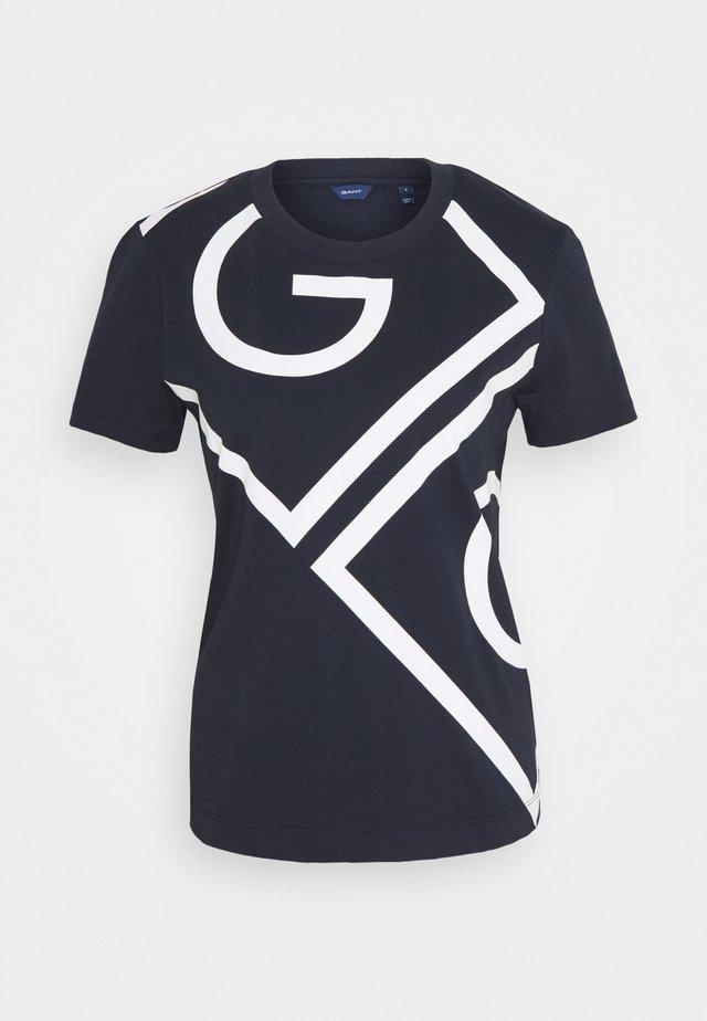 ICON  - T-shirt z nadrukiem - evening blue