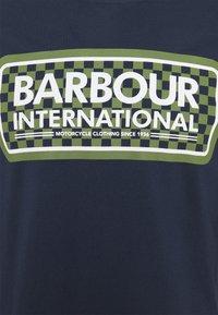 Barbour International - GRID LOGO TEE - Top sdlouhým rukávem - navy - 2