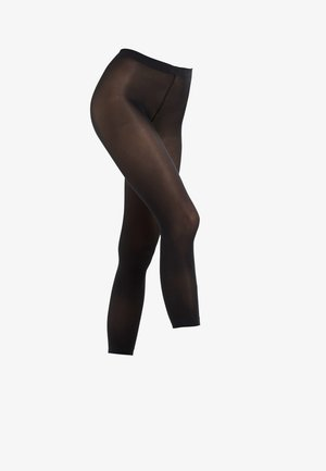 FALKE PURE MATT 50 DENIER CAPRI HALB-BLICKDICHT MATT SCHWARZ - Leggings - black