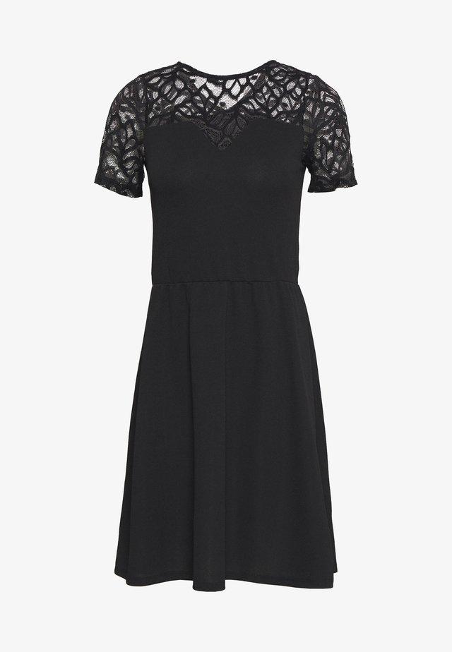 ONLMONNA DRESS - Vestito di maglina - black