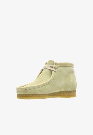 Ankle boots - hellbraunes veloursleder