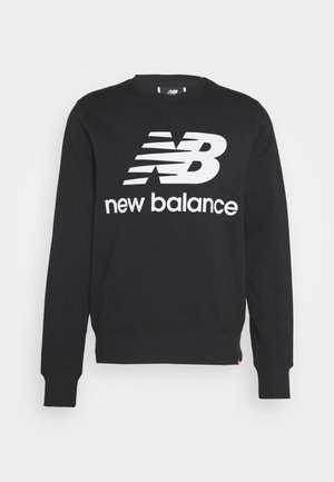 ESSENTIALS STACKED LOGO CREW - Sweatshirt - black
