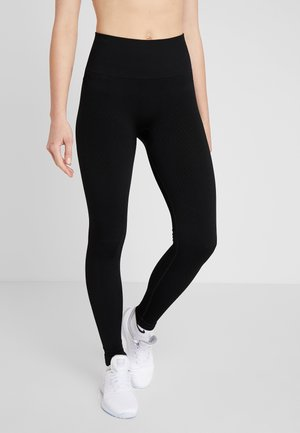 SEAMLESS CHEVRON - Leggings - black
