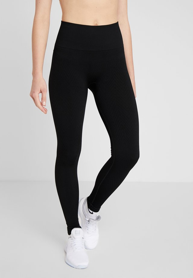 SEAMLESS CHEVRON - Legging - black