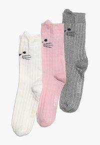 Ewers - KATZE 3 PACK - Socks - altrosa/latte/grau - 0