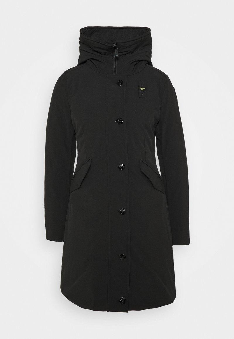 Blauer - IMPERMEABILE TRENCH LUNGHI IMBOT PIUMA - Down coat - black
