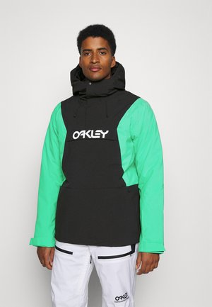 INSULATED ANORAK - Snowboardová bunda - black/mint
