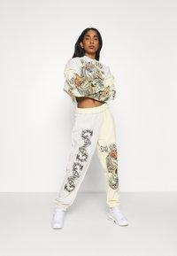 NEW girl ORDER - YIN YANG DRAGON PANEL HOODY - Sweatshirt - cream - 1