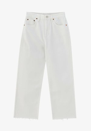 CROPPED - Straight leg jeans - white