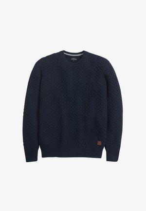 TEXTURED - Strickpullover - blue