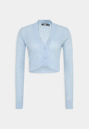 FEATHER POINTELLE CARDI - Cardigan - light blue