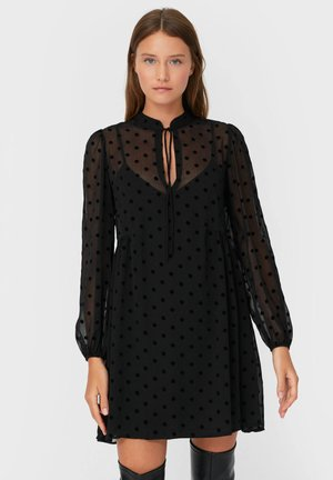 MIT TUPFENPRINT - Day dress - black