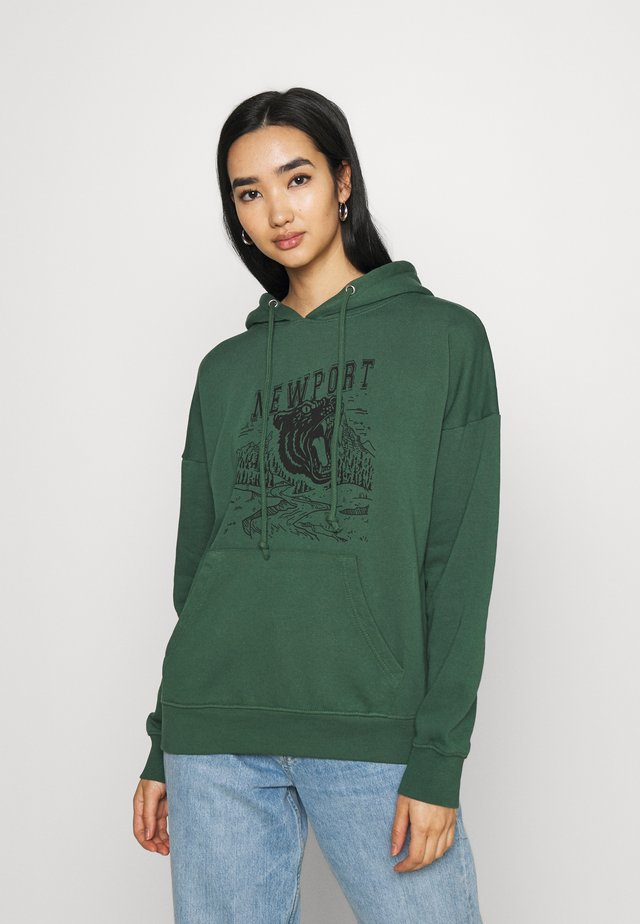 WASHED PORTLAND GRAPHIC HOODIE - Mikina - green