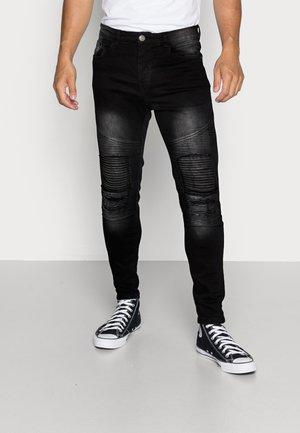 BIKERCHAR - Jeans Skinny Fit - charcoal