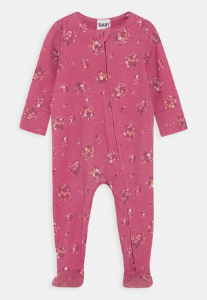 THE LONG SLEEVE ZIP  - Sleep suit - mauve plum/olivia