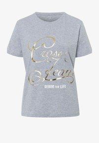 Cross Jeans - Print T-shirt - grau-meliert - 4