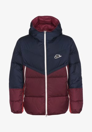 SHIELD  - Down jacket - midnight navy / dark beetroot / black