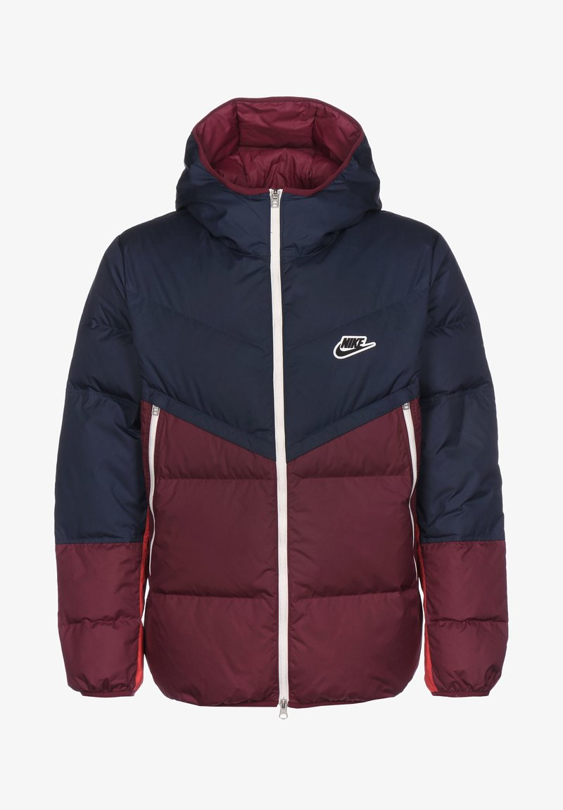 Nike Sportswear - SHIELD  - Down jacket - midnight navy / dark beetroot / black