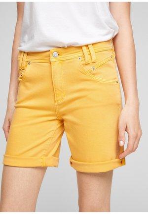 Short en jean - yellow