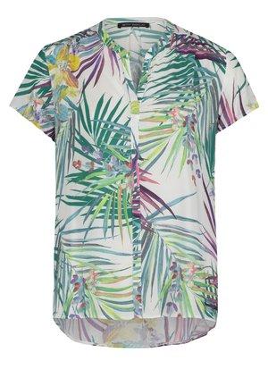 Button-down blouse - white/green