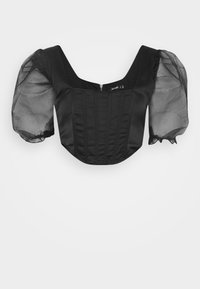 Missguided - PUFF SLEEVE CORSET - Blouse - black - 4