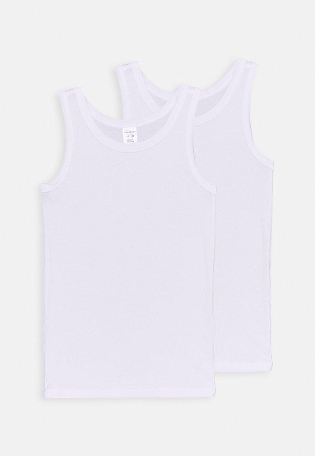 TEENS TANKS 95/5 2 PACK - Undershirt - weiss