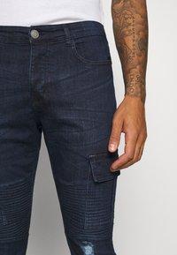 Brave Soul - ARCHIE - Cargo trousers - dark blue wash - 3