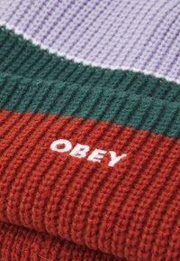 Obey Clothing - FUTURE STRIPE BEANIE UNISEX - Bonnet - auburn/multi-coloured - 2