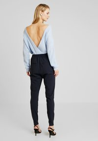 Vero Moda Tall - VMEVA LOOSE STRING PANTS  - Tracksuit bottoms - night sky - 3