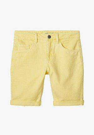 Denim shorts - yellow iris