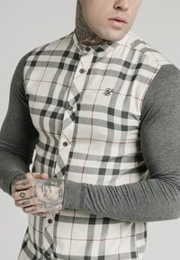 SIKSILK - GRANDAD  - Shirt - off-white/grey - 3