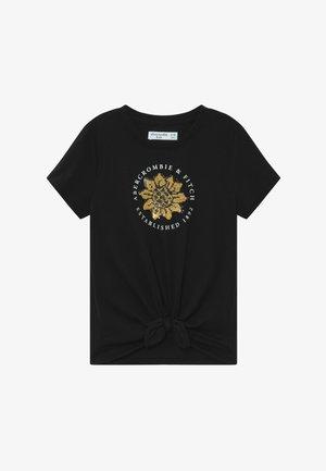 JAN TIE FRONT FLIP - T-shirt print - black