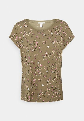 COO CORE - Print T-shirt - khaki
