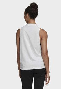 adidas Performance - BADGE OF SPORT COTTON TANK TOP - Top - white - 1