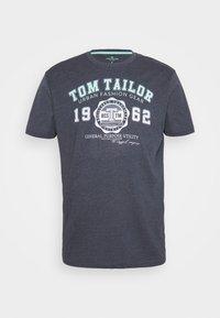 LOGO TEE - Print T-shirt - sky captain blue/white melange