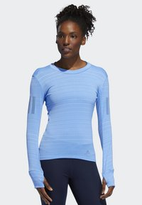 adidas Performance - RISE UP N RUN LONG-SLEEVE TOP - Funktionströja - blue - 0