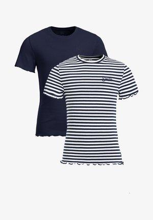 2PACK - T-shirt imprimé - dark blue