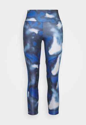 AEROREADY TRAINING SPORTS - Tights - royblue/white